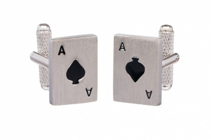 Ace of Spades Playing Card Cufflinks